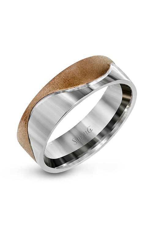 Simon G Men's Wedding Bands - 14k white gold, 14k rose gold  Wedding Band, LG156 product image