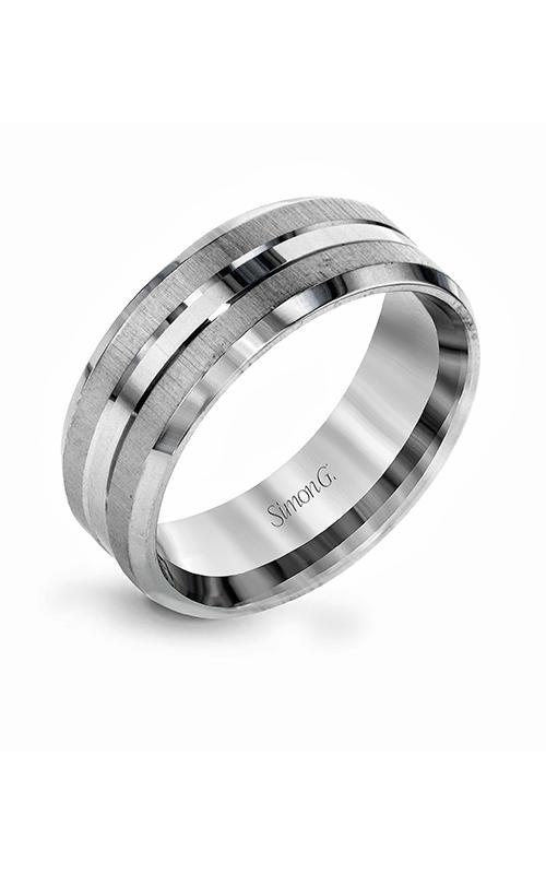 Simon G Men's Wedding Bands - 14k white gold  Wedding Band, LG157 product image