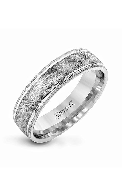 Simon G Men's Wedding Bands - 14k white gold  Wedding Band, LG160 product image