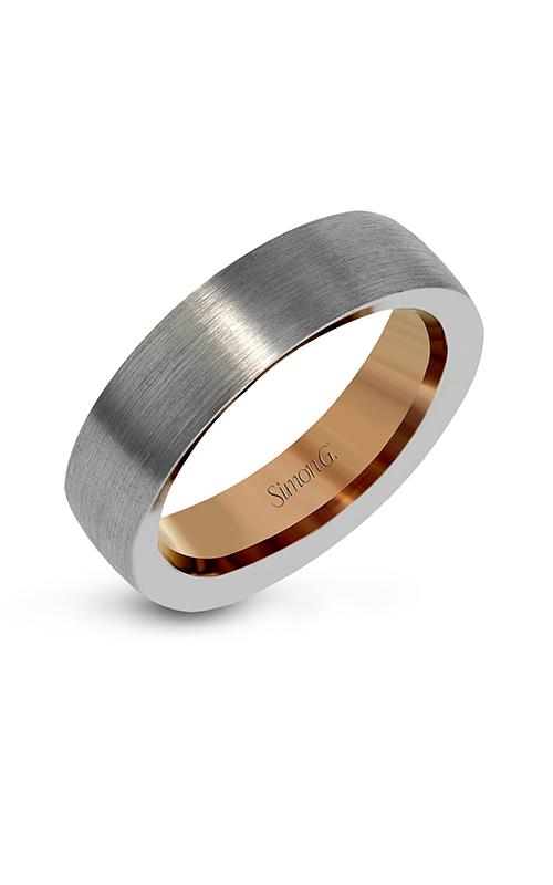 Simon G Men's Wedding Bands - 14k white gold, 14k rose gold  Wedding Band, LG163 product image