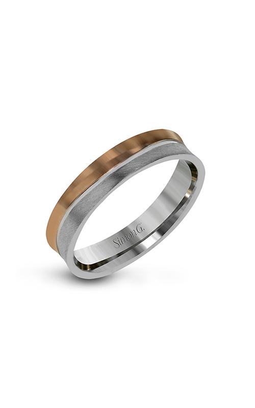 Simon G Men's Wedding Bands - 14k white gold, 14k rose gold  Wedding Band, LG164 product image