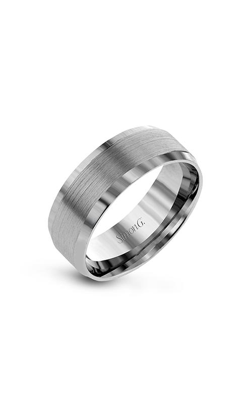 Simon G Men's Wedding Bands - 14k white gold  Wedding Band, LG181 product image