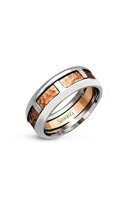 Simon G Men's Wedding Bands - 14k white gold, 14k rose gold  Wedding Band, LP2180 product image
