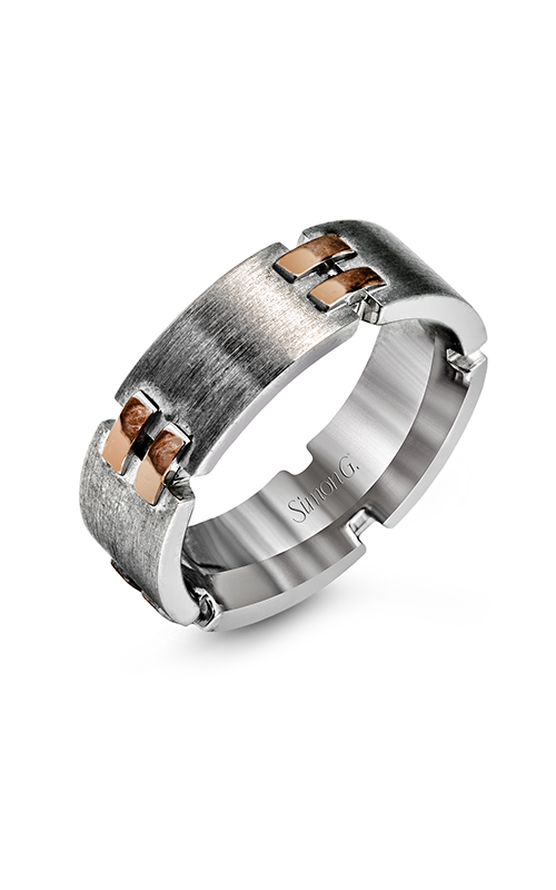 Simon G Men's Wedding Bands - 14k rose gold, 14k white gold  Wedding Band, LP2279 product image