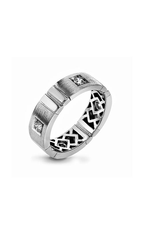 Simon G Men's Wedding Bands - 14k white gold 0.32ctw Diamond Wedding Band, MR1774-B product image