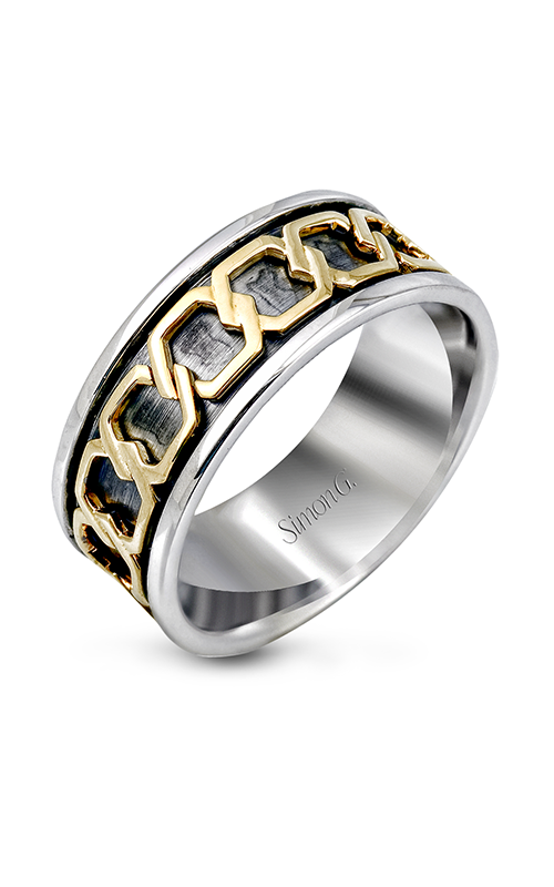 Simon G Men's Wedding Bands - 18k yellow gold, 18k black gold, 18k white gold  Wedding Band, MR1978 product image