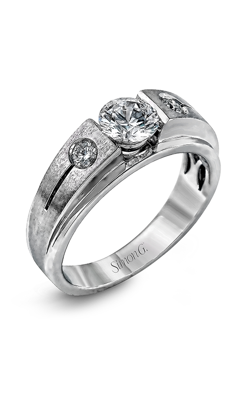 Simon G Men's Wedding Bands - 18k white gold 0.20ctw Diamond Wedding Band, MR2036 product image