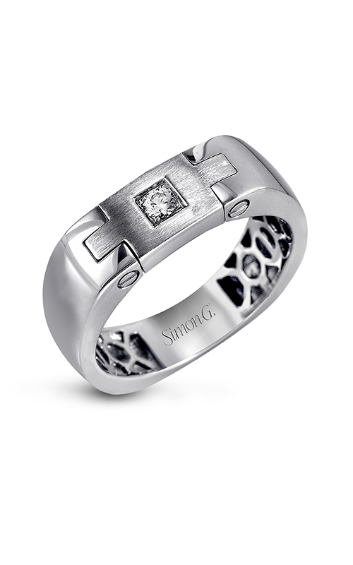 Simon G Men's Wedding Bands - 14k white gold 0.07ctw Diamond Wedding Band, MR2094 product image