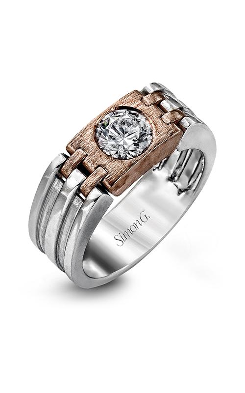 Simon G Men's Wedding Bands - 14k rose gold, 14k white gold  Wedding Band, MR2355 product image