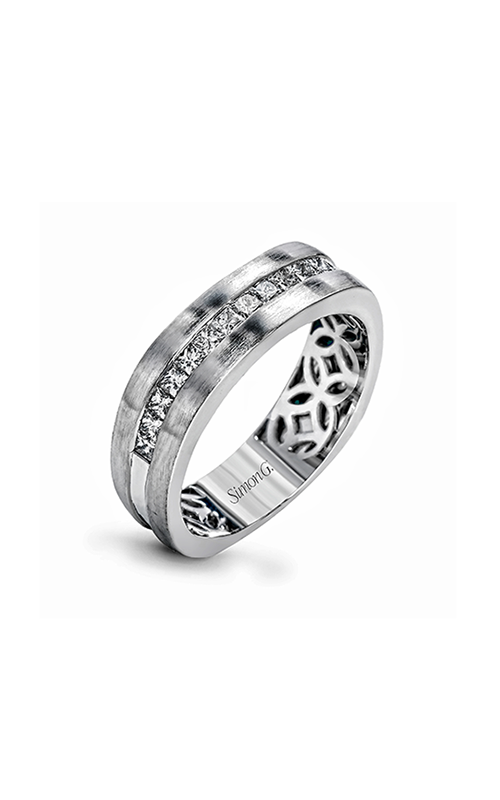 Simon G Men's Wedding Bands - 18k white gold 0.68ctw Diamond Wedding Band, MR2635 product image
