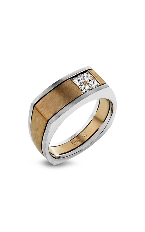 Simon G Nocturnal - 14k white gold, 14k rose gold 0.47ctw Diamond Wedding Band, MR2887 product image