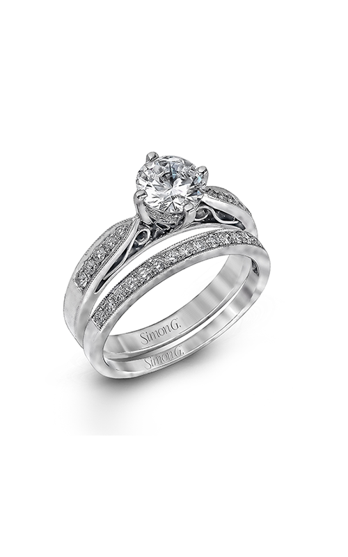 Simon G Modern Enchantment - 18k white gold 0.34ctw Diamond Engagement Ring, LP1031 product image