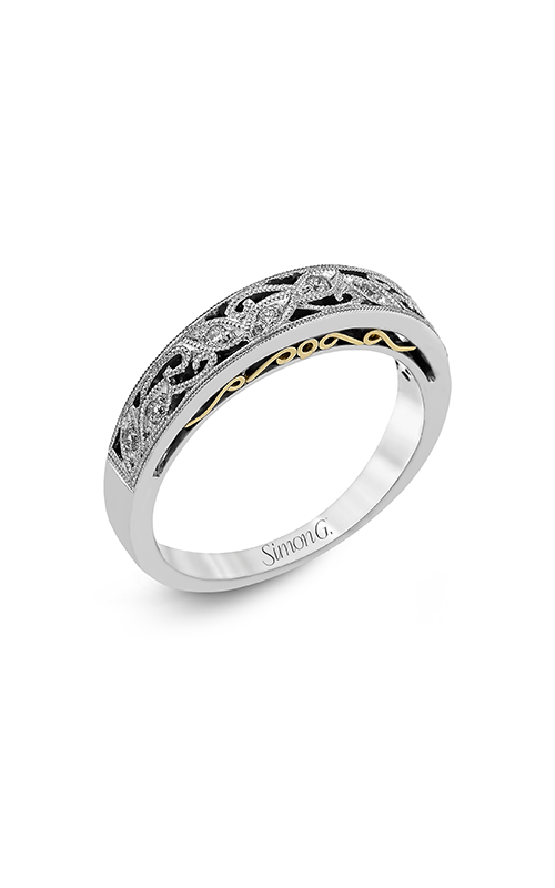 Simon G Vintage Explorer - 18k yellow gold, 18k white gold 0.09ctw Diamond Wedding Band, LP1355-B product image