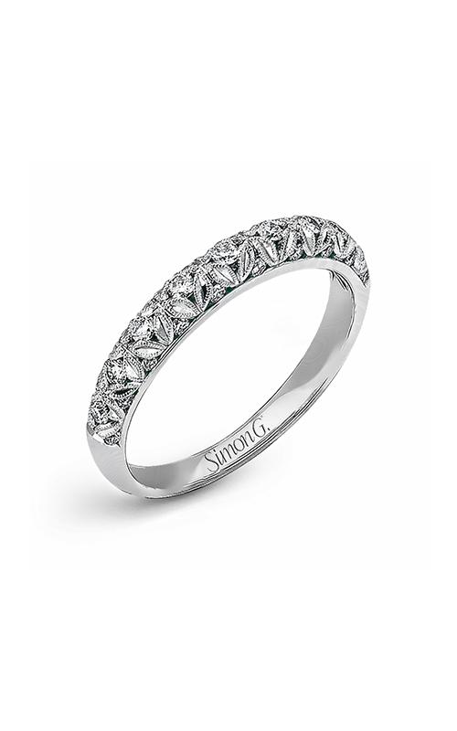 Simon G Vintage Explorer - 18k white gold 0.32ctw Diamond Wedding Band, LP1582-B product image
