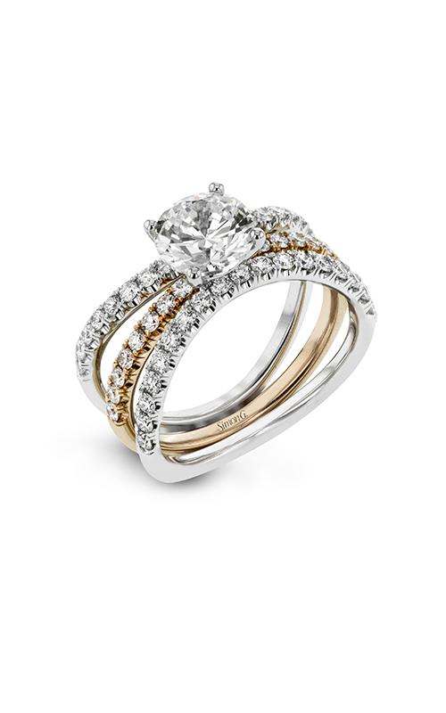 Simon G Classic Romance - 18k white gold, 18k yellow gold 0.77ctw Diamond Engagement Ring, LR1083 product image