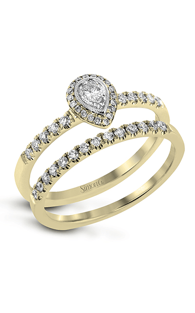 Simon G Delicate - 18k yellow gold, 18k white gold 0.35ctw Diamond Engagement Ring, LR1104 product image
