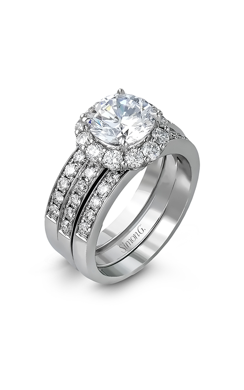 Simon G Passion - 18k white gold 1.36ctw Diamond Engagement Ring, MR1442 product image