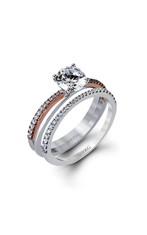 Simon G Modern Enchantment - 18k white gold, 18k rose gold 0.32ctw Diamond Engagement Ring, MR2554 product image
