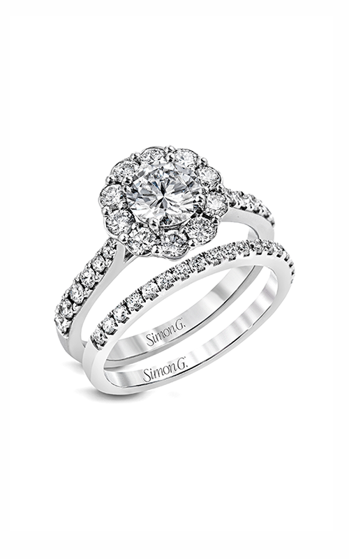 Simon G Passion - 18k white gold 0.92ctw Diamond Engagement Ring, MR2573 product image