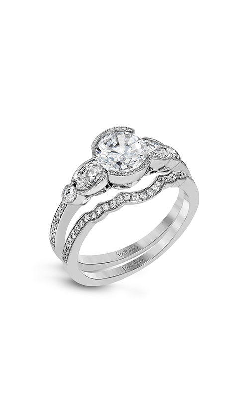 Simon G Vintage Explorer - 18k white gold 0.68ctw Diamond Engagement Ring, MR2755 product image