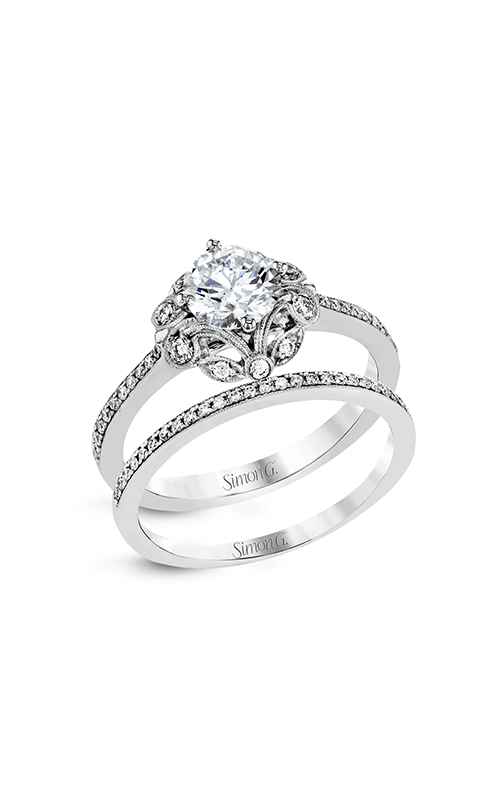 Simon G Vintage Explorer - 18k white gold 0.28ctw Diamond Engagement Ring, MR2862 product image