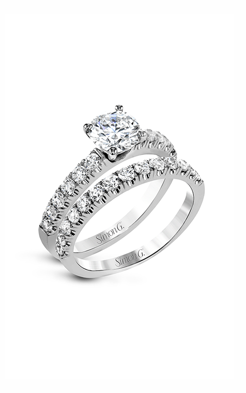 Simon G Passion - 18k white gold 0.86ctw Diamond Engagement Ring, MR2903 product image