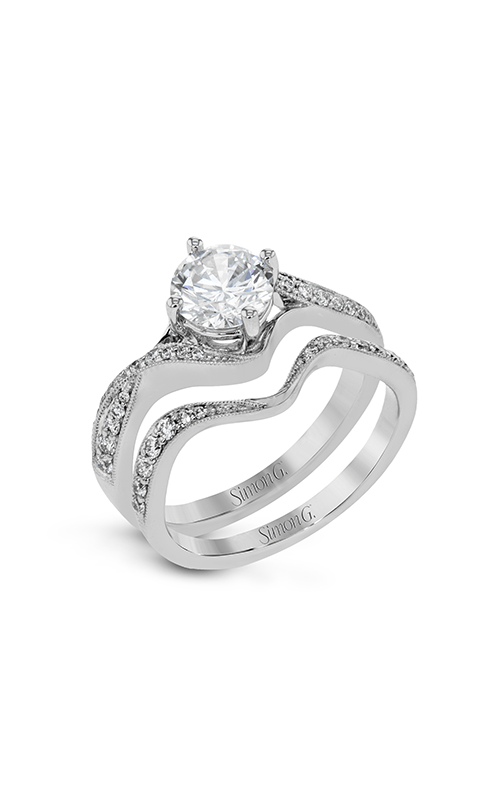 Simon G Classic Romance - 18k white gold 0.35ctw Diamond Engagement Ring, NR513 product image