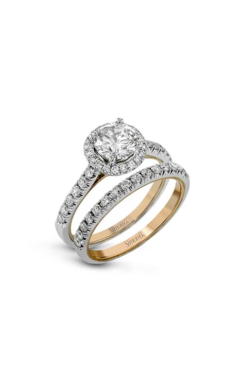 Simon G Classic Romance - 18k white gold, 18k rose gold 0.66ctw Diamond Engagement Ring, TR653 product image