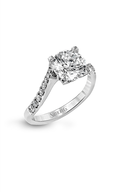Simon G Passion - 18k white gold 0.19ctw Diamond Engagement Ring, LR1000 product image
