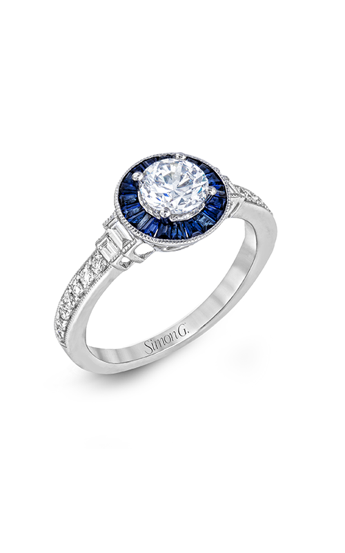 Simon G Classic Romance - 18k white gold 0.26ctw Diamond Engagement Ring, LR1029 product image