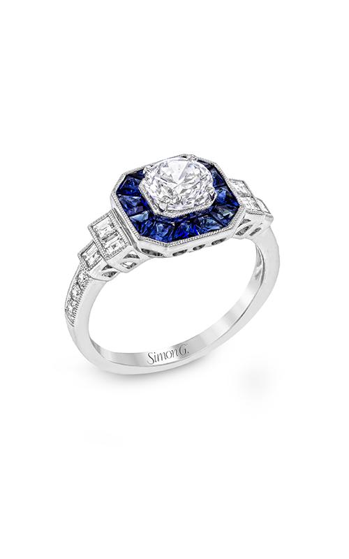Simon G Classic Romance - 18k white gold 0.39ctw Diamond Engagement Ring, LR1059 product image