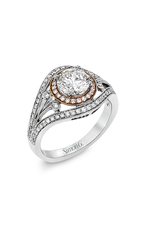 Simon G Passion - 18k rose gold, 18k white gold 0.44ctw Diamond Engagement Ring, TR628 product image