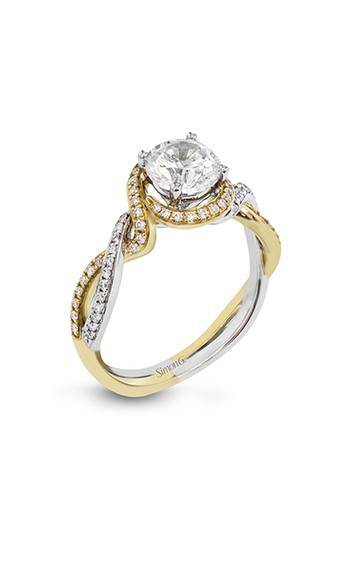 Simon G Classic Romance - 18k white gold, 18k yellow gold 0.24ctw Diamond Engagement Ring, MR2708 product image