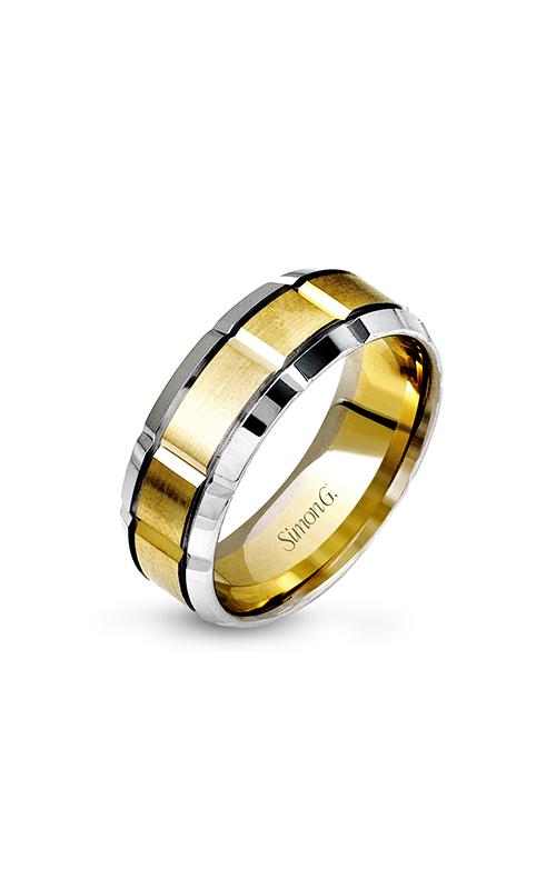 Simon G Men's Wedding Bands - 14k white gold, 14k yellow gold  Wedding Band, LG112 product image
