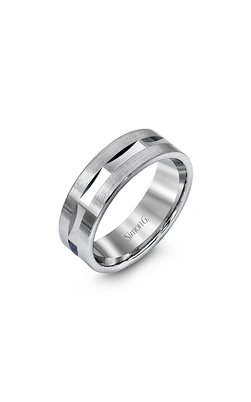 Simon G Men's Wedding Bands - 14k white gold  Wedding Band, LG115 product image