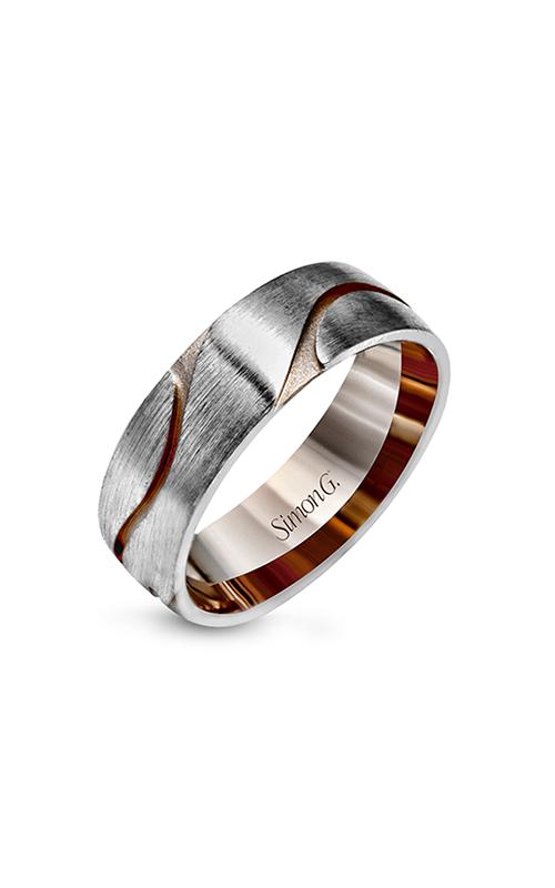 Simon G Men's Wedding Bands - 14k white gold, 14k rose gold  Wedding Band, LG133 product image