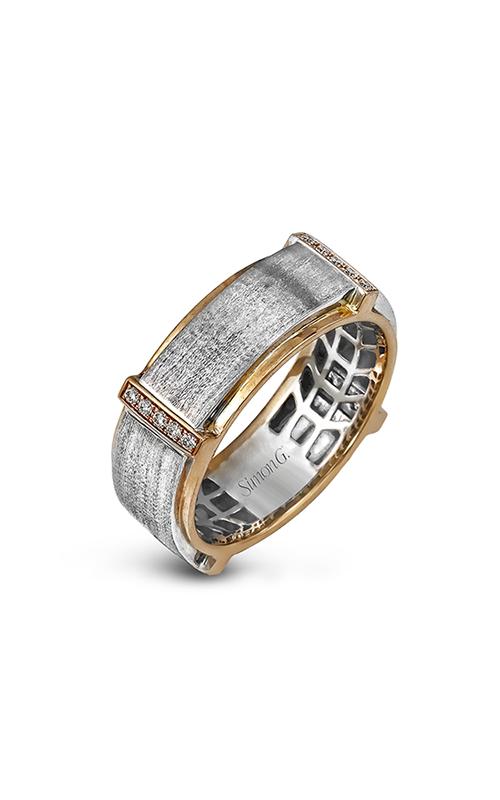 Simon G Men's Wedding Bands - 14k white gold, 14k rose gold 0.16ctw Diamond Wedding Band, MR2104 product image
