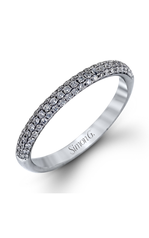 Simon G Modern Enchantment - 18k white gold 0.72ctw Diamond Wedding Band, TR431 product image