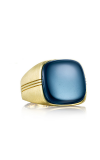Tacori Cushion Cabochon featuring Sky Blue Hematite Men's Ring MR100Y37