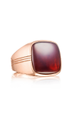 Tacori Cushion Cabochon featuring Garnet over Mother of Pearl Men's Ring MR100P41