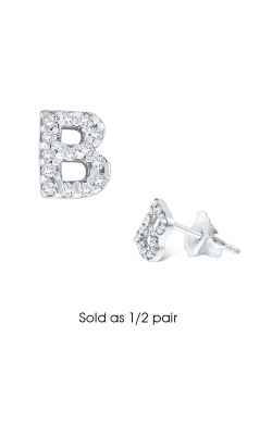 KC Designs Initials Earring E3171-B product image