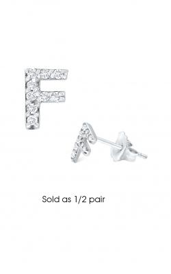 KC Designs Initials Earring E3171-F product image
