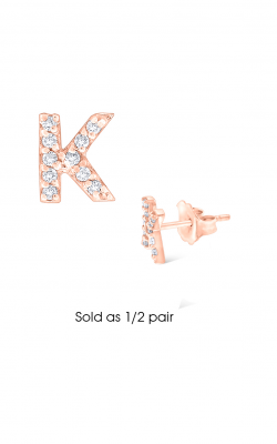 KC Designs Initials Earring E3171-K product image