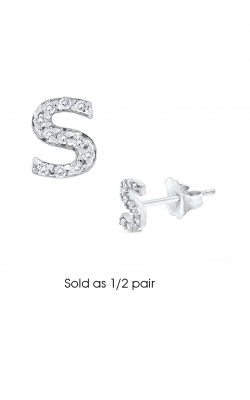 KC Designs Diamond Single Initial Earrings E3171-S product image