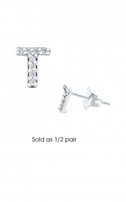 KC Designs Initials Earring E3171-T product image