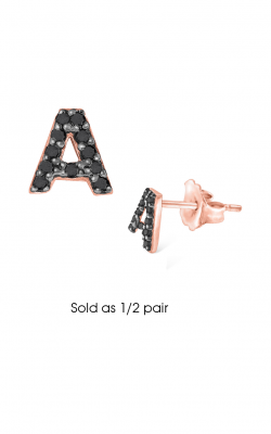 KC Designs Initials Earring E3171BK-A product image