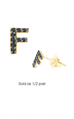 KC Designs Initials Earring E3171BK-F product image
