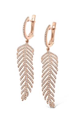 KC Designs Diamond Large Feather Drop Earrings E13921 product image
