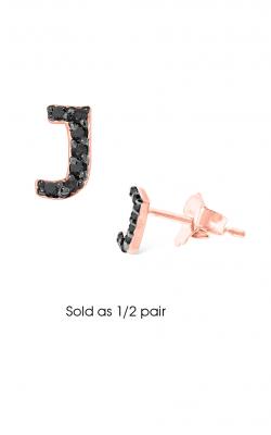 KC Designs Initials Earring E3171BK-J product image