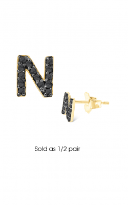 KC Designs Initials Earring E3171BK-N product image